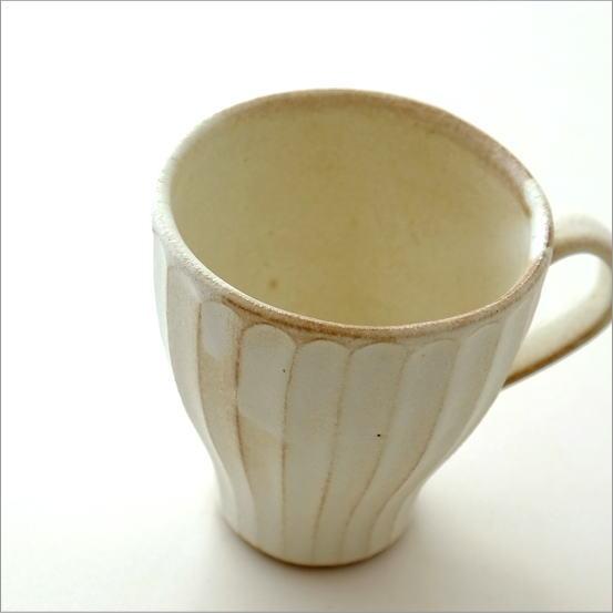 マグカップ おしゃれ 陶器 益子焼 和食器 粉引ウェーブマグ