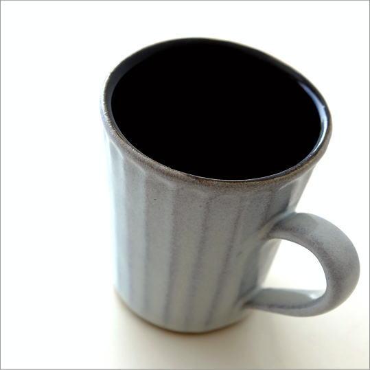 マグカップ 陶器 益子焼 日本製 コーヒーカップ マグ 和食器 焼き物 モダン シンプル デザイン カラー縞マグカップ ホワイト