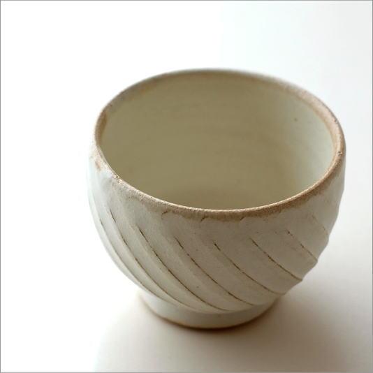 湯のみ おしゃれ かわいい 粉引き 湯呑み茶碗 湯飲み茶碗 シンプル カフェ 和食器 コップ カップ 焼き物 陶芸 陶器 益子焼 日本製 きなりカップ naname