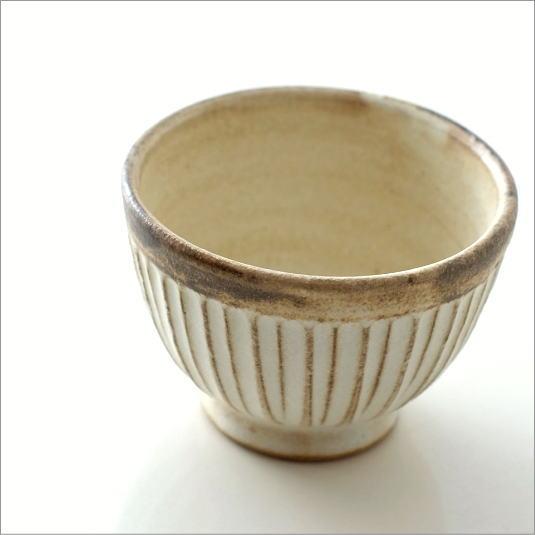 湯のみ おしゃれ かわいい 粉引き 湯呑み茶碗 湯飲み茶碗 ナチュラル シンプル カフェ 和食器 コップ カップ 陶器 益子焼 日本製 スリムライン 湯のみ