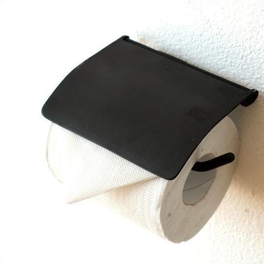 トイレットペーパーホルダー カバー 真鍮 アンティーク モダン シンプル おしゃれ ブラック 黒 ブラスペーパーホルダー BKシンプル [ydj8230]