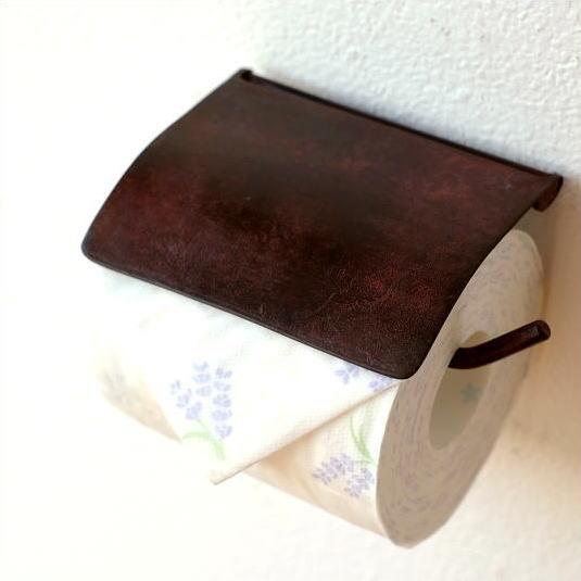 アンティークブラウンのシンプルな真鍮トイレットペーパーホルダー