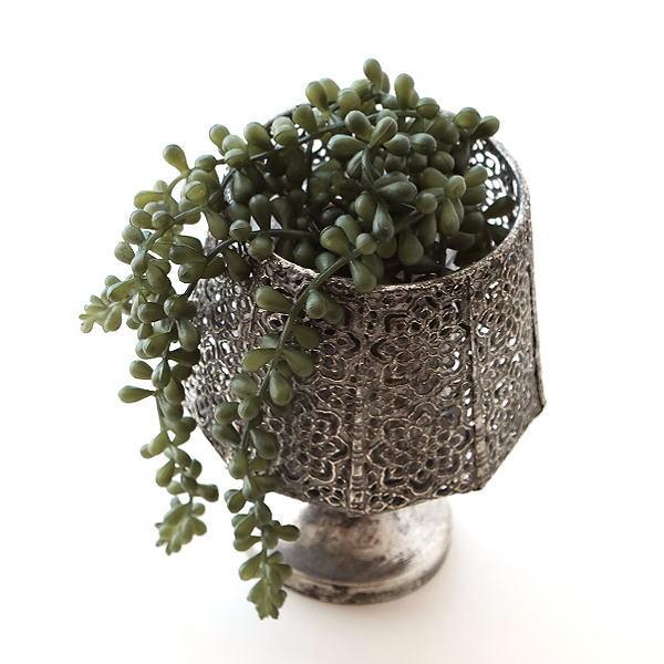 フラワーベース 花瓶 アイアン おしゃれ レトロ シャビー アンティーク ヴィンテージ 花器 アイアンのカップホルダーベース [ysp8869]