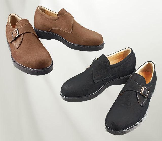 背が高くなる靴・No.927〈牛革ヌバック・モンク〉