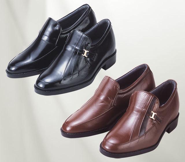 背が高くなる靴・No.635〈カンガルー革・モカスリッポン〉