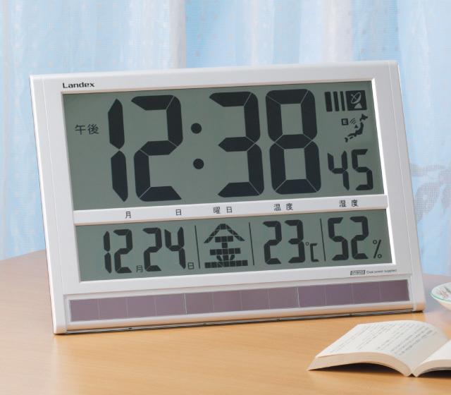 液晶バカデカ電波時計