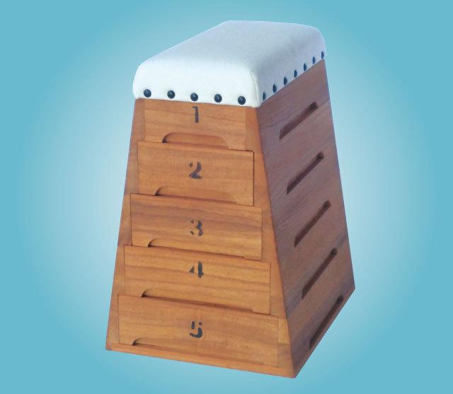 桐製跳び箱 B6サイズ引出し5段