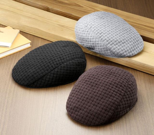 日本製ウール100%ジャカードハンチング