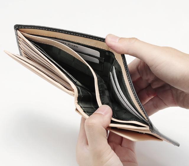 ブライドルレザー二つ折財布