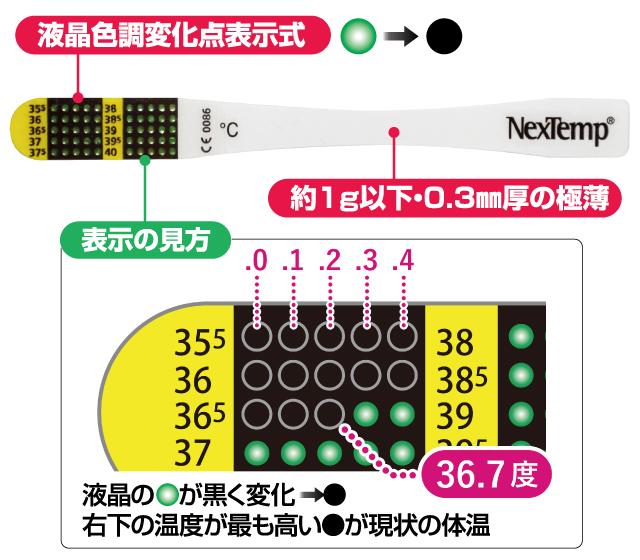 液晶体温計フラットミニ