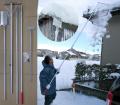 多機能雪降ろし&雪庇落とし&凍雪除去用ヘラセット 4.5mタイプ