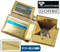 ゴールドイタリアンレザー二つ折り財布