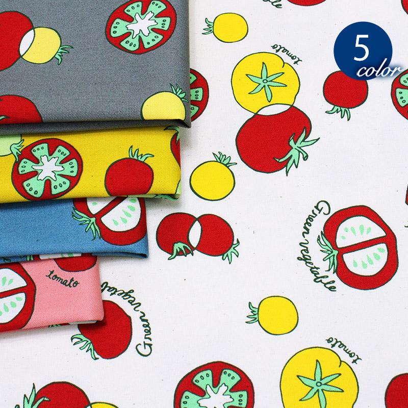 【メール便2mまで】トマトコロコロオックス生地(1539) トマト 手作り かわいい おしゃれ キッズ 小物 雑貨 コットン 綿 メール便OK