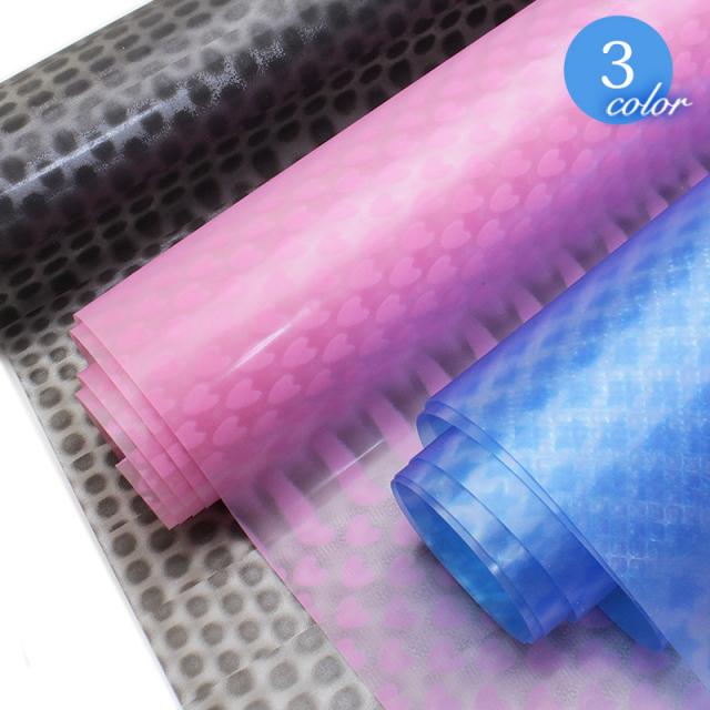 【メール便不可】0.4mm透明3Dシート(1157) |透明,シート,水玉,ドット,星,スター,ハート,PVC