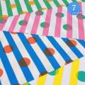 【メール便2mまで】ストライプ&ドットオックス生地(1111) | 水玉 オックス 生地 手芸 ストライプ メール便OK