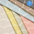 【メール便2mまで】ふわふわストライプオックス生地(1149) | 北欧風 生地 オックス 布地 綿100% バッグ レッスンバッグ 布 ファブリックパネル 雑貨 インテリア メール便OK