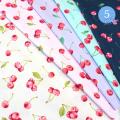 【メール便2mまで】フレッシュチェリーオックス生地(1317-1)| さくらんぼ くだもの コットン 女の子 フルーツ かわいい 布 柄  レッスンバッグ エプロン 雑貨 メール便OK