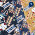 【メール便2mまで】デニム風オルテガエスニック柄プリント生地(1336) ネイティブ チマヨ エスニック 生地 バッグ レッスンバッグ 雑貨 メール便OK 男の子