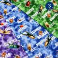 【メール便2mまで】タイダイ昆虫オックス生地(1376)|昆虫 トンボ セミ カブトムシ 男の子 タイダイ ムラ染め 生地 オックス 布 雑貨 綿100% バッグ レッスンバッグ メール便OK