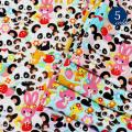 【メール便2mまで】レトロアニマルフレンズプリント生地(1503) | 動物 アニマル パンダ ウサギ ゾウ リス シカ 鳥 リンゴ イチゴ 女の子 入園 入学 メール便OK