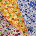 【メール便2mまで】北欧風ストーリー柄シーチング生地《フラワー》(8501-1)[手作り/花柄/雑貨]
