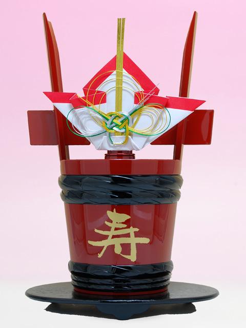 還暦祝いのプレゼントに花束ラッピング名入れラベル酒・酒蔵直送 祝い酒 角樽 1800ml