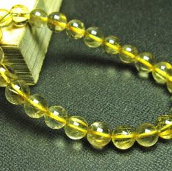 ゴールドタイチンルチルブレスレット7mm