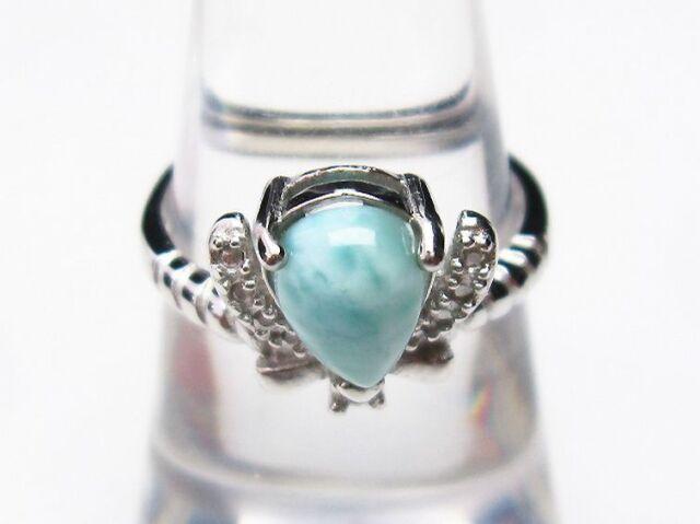ラリマー指輪(16号)
