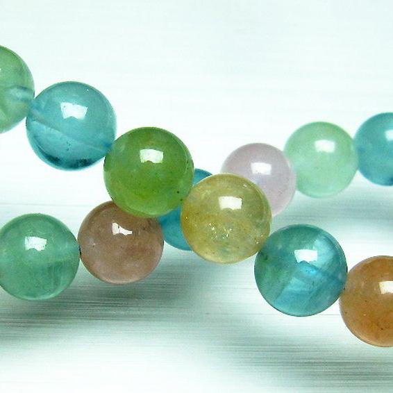 MIXベリルブレスレット【緑柱石】10mm[T237-2330]