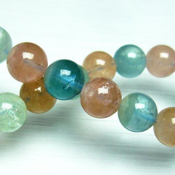 MIXベリルブレスレット【緑柱石】10mm[T237-2346]
