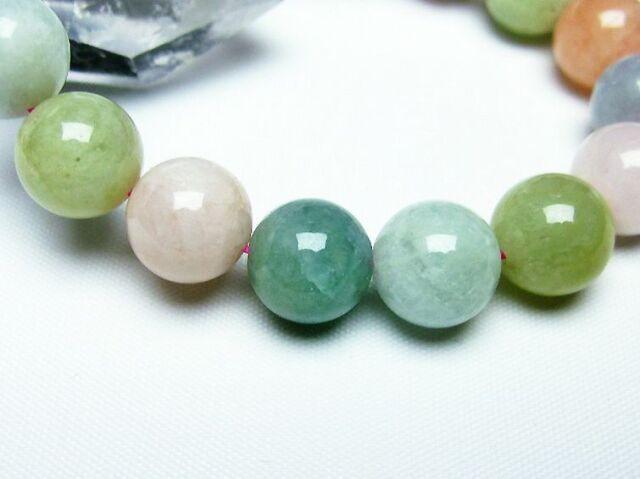 MIXベリルブレスレット 緑柱石12mm