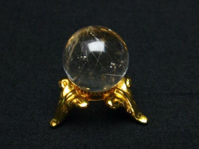 ルチル入り水晶丸玉16mm