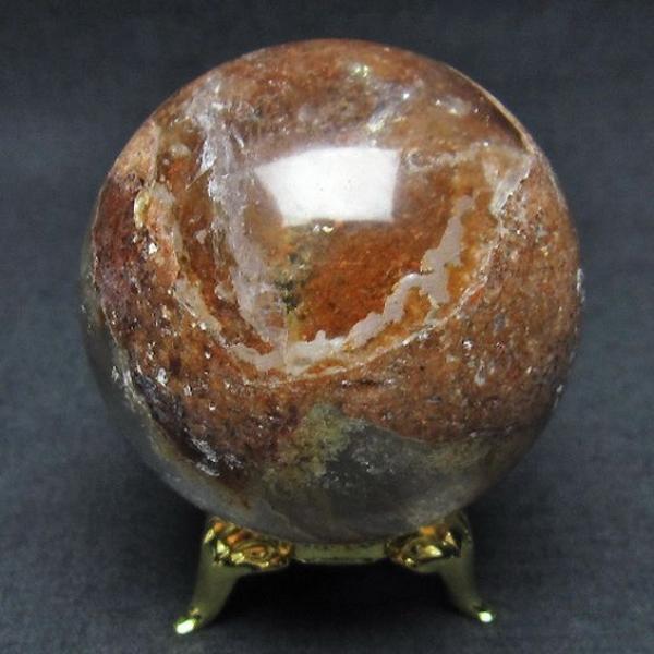 ガーデン水晶丸玉51mm[T637-3658]
