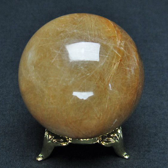 放射金針ルチル水晶丸玉45mm[T637-4008]