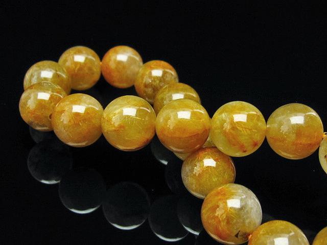 タイチンフラワー水晶ブレスレット12mm