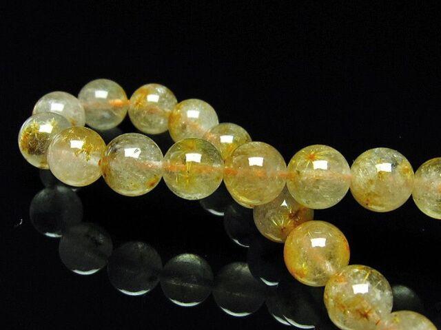 タイチンフラワー水晶ブレスレット9mm