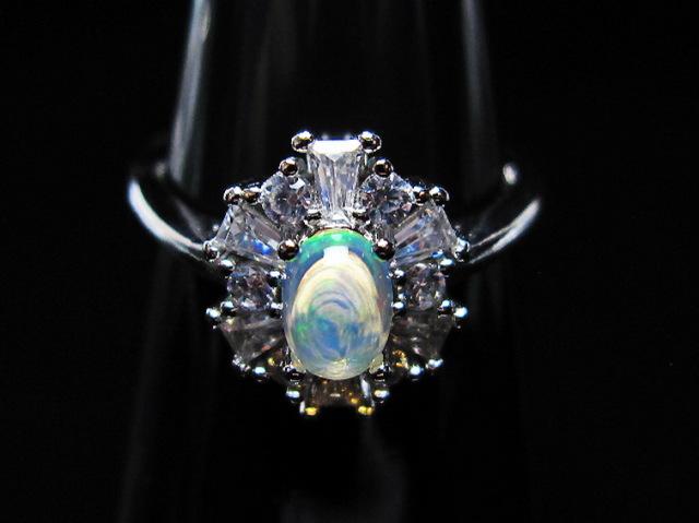 プレシャスオパール指輪(16号)