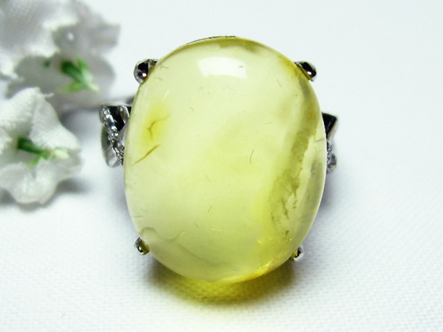 アンバー 琥珀指輪(12号)