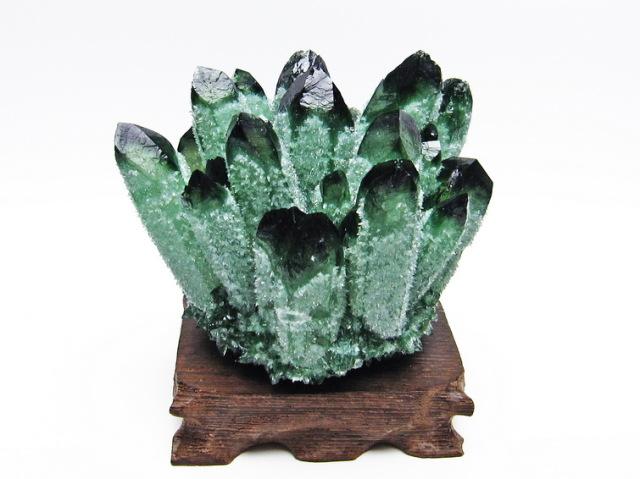 緑水晶 グリーンクォーツ クラスター