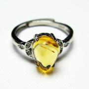 シトリン指輪(15号)