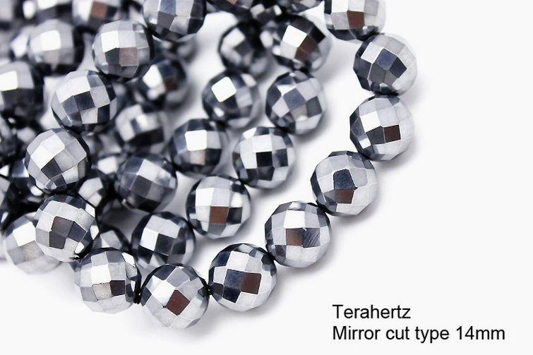 テラヘルツブレスレット 64面ミラーカット14mm 《rv》  [T793-20]