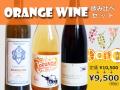 [お得なワインセット]オレンジワイン飲み比べセット(ワイン3本入り)