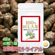 100%田七人参_60粒1袋