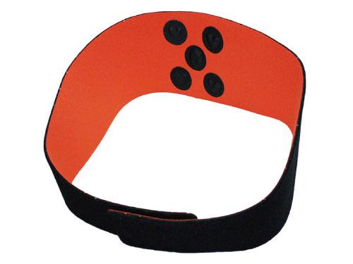 コリドラ・アイ腰バンド(黒×オレンジ)丸山式  電磁波