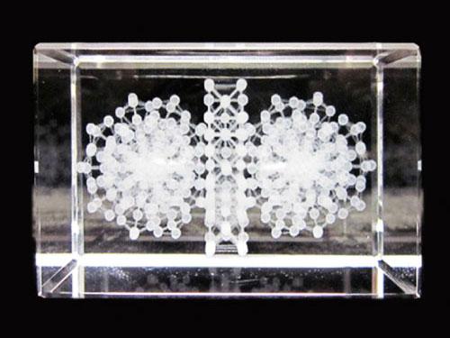 3Dカバラ「 3Dカバラ連結型・ルーカス 」キーホルダー【丸山修寛シリーズ】