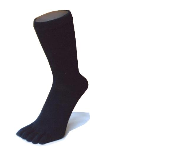 EMヘンプ五本指ソックス(ブラック) 22~24cm
