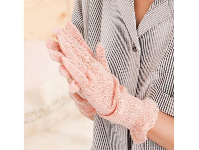 おやすみ手袋 べんがら手染め 茜色(あかねいろ)《ヘンプシリーズ》