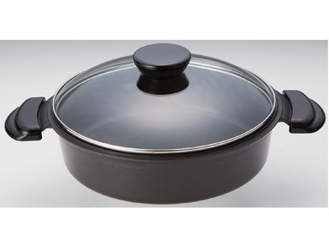 赤外線すき焼鍋(強化硝子蓋付)