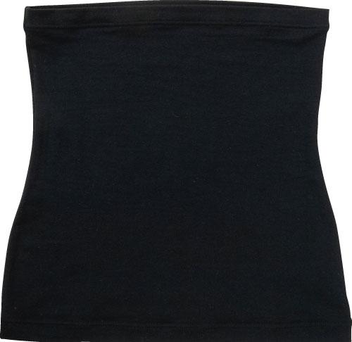 オーラ岩盤浴腹巻(レースなし)(男女兼用)ブラックmain【ヒートレイシリーズ(オーラストーン)】[KY1217,KY1218,KY1219]