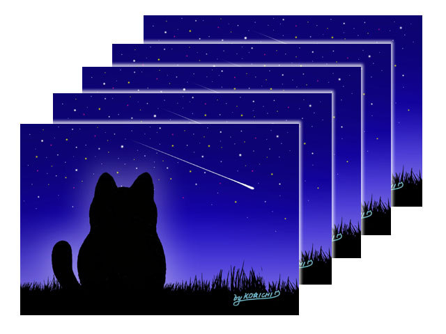 【ポストカードNo.021】星に願いを2017×5枚main